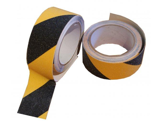 Výstražná páska protiskluzová zdrsněná