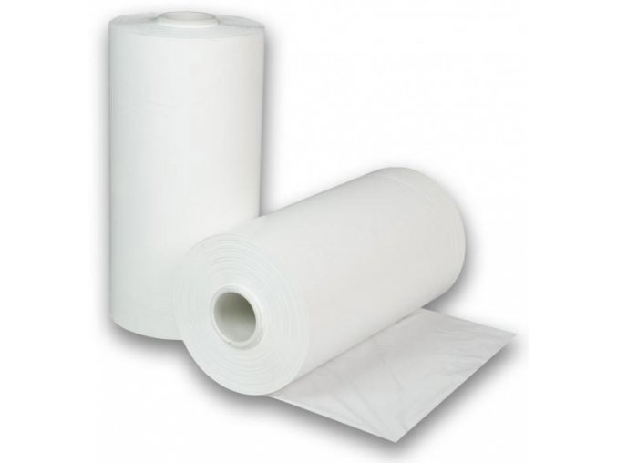 Strojní stretch folie 23my, bílá neprůhledná