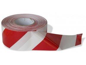 Výstražná páska, červeno-bílá, 80mmx200m