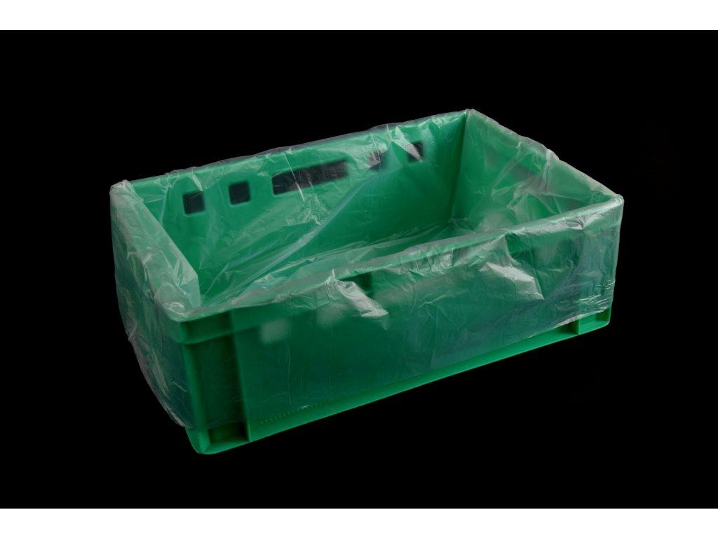 Pytel HDPE do přepravky E2 - 1000x600 mm, transparentní, 20 mikronů - 500 kusů