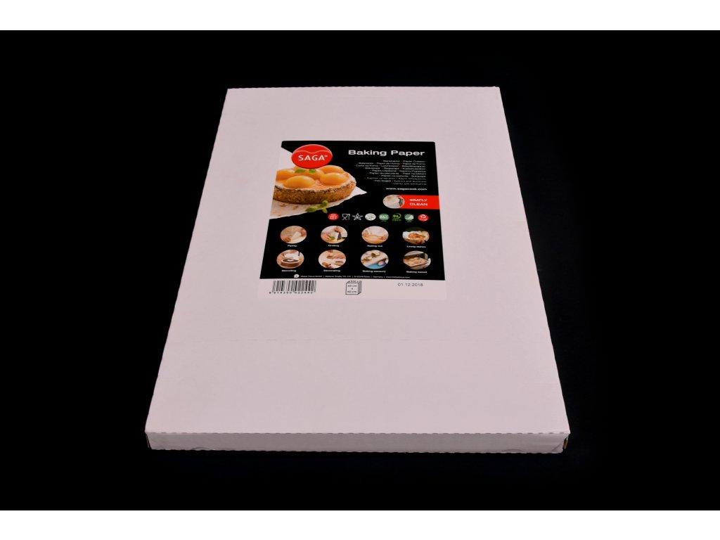 Pečící papír SAGA řezaný - 60x40 cm, bílý, oboustranně voskovaný - 500 kusů