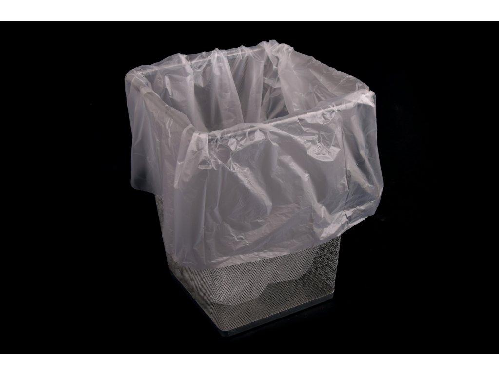 Pytel na odpadky HDPE - 70 litru 400+320x650 mm - transparentní, 20 mikronů - 700 kusů
