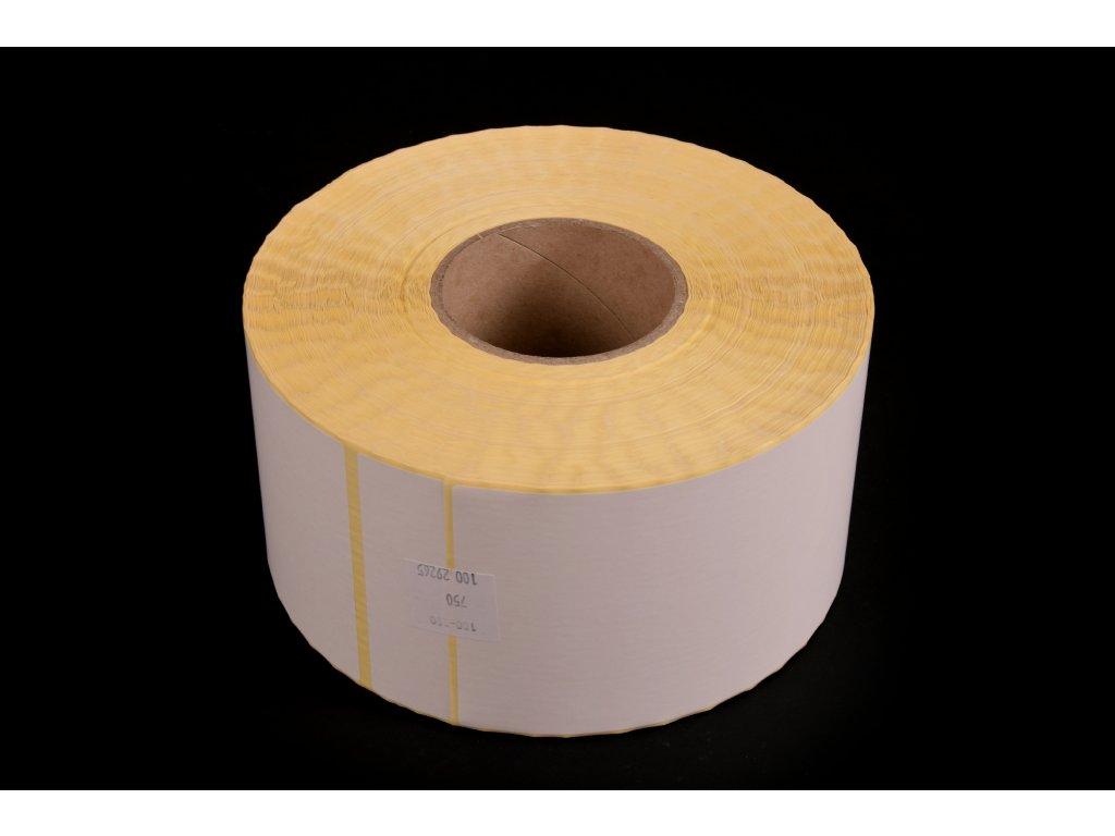 Samolepící etikety pro TTR tisk - bílá, 100 x 350 mm, 750 ks