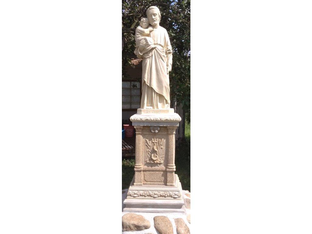ü. 01 Svatž Josef s JeßiÁem + podstavc vžÁka 220cm, Á°żka 55cm 55cm, v†ha 270kg cena s DPH 14.520, + odstranit ze soch ü. 14