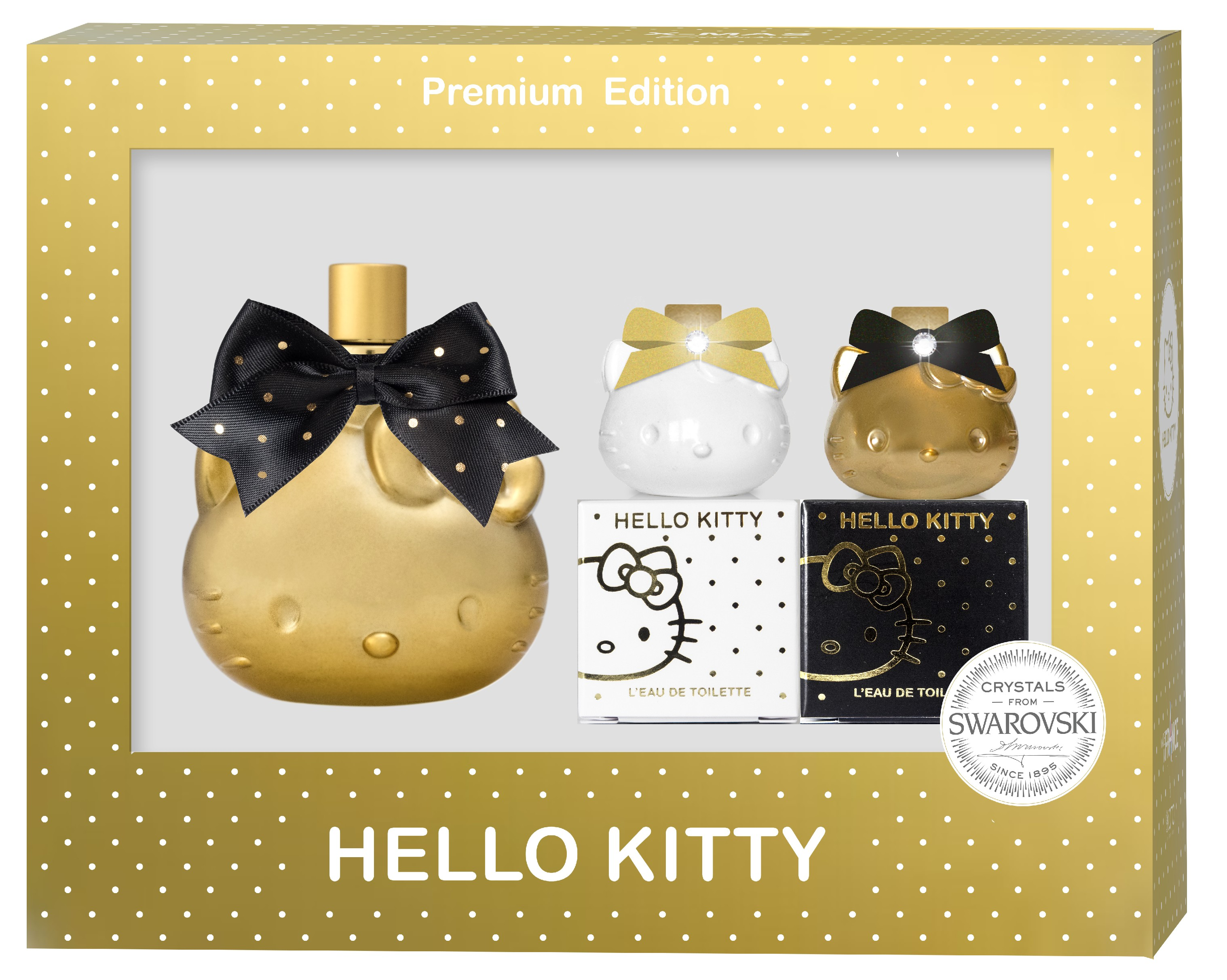HELLO KITTY PREMIUM Vienočný SET 1x 40ml 2x mini parfumy