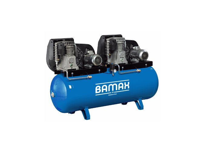 Stacionární kompresor Bamax Tandem BX60G/500T7,5