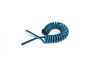 Dvojitá spirálová PU hadice 2/4 mm - 5m
