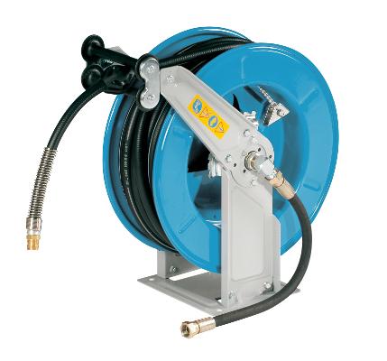 BAMAX VL 1017 - 25m Navíjecí buben s pryžovou hadicí na vzduch a vodu do 40°C