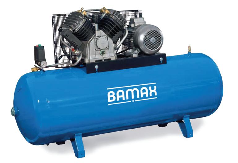 BAMAX BX70G/500CT10 olejový pístový dvouválcový 7,5kW, 500l nádoba