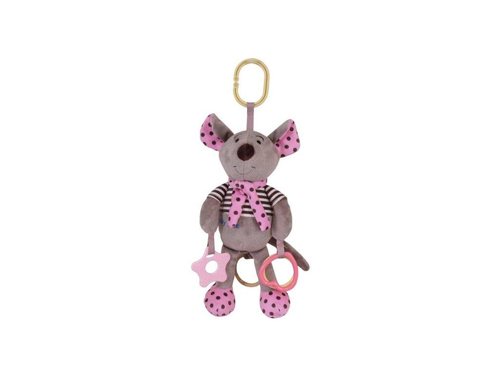 Dětská hračka na kočárek Baby Mix se zvukem Myška