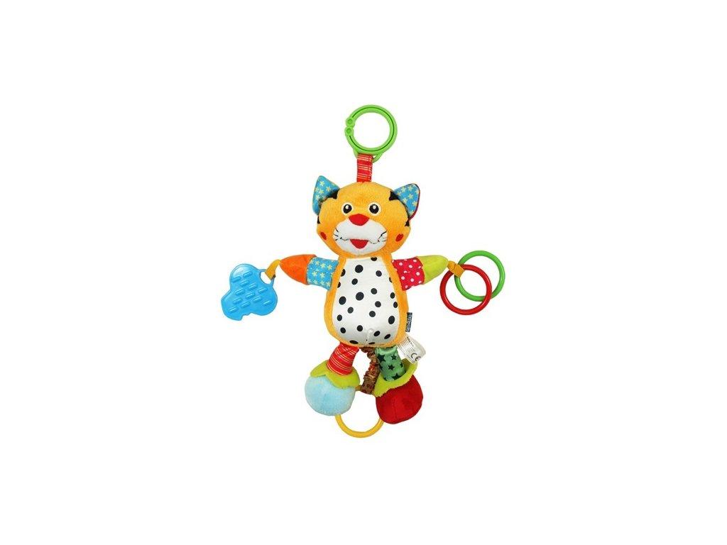 Dětská hračka na kočárek Baby Mix vibrující Tygřík