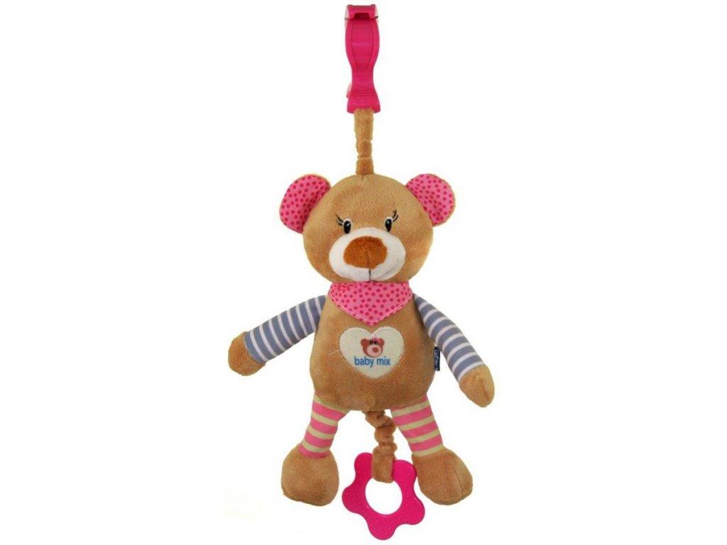 Dětská plyšová hračka s hracím strojkem Baby Mix Medvídek
