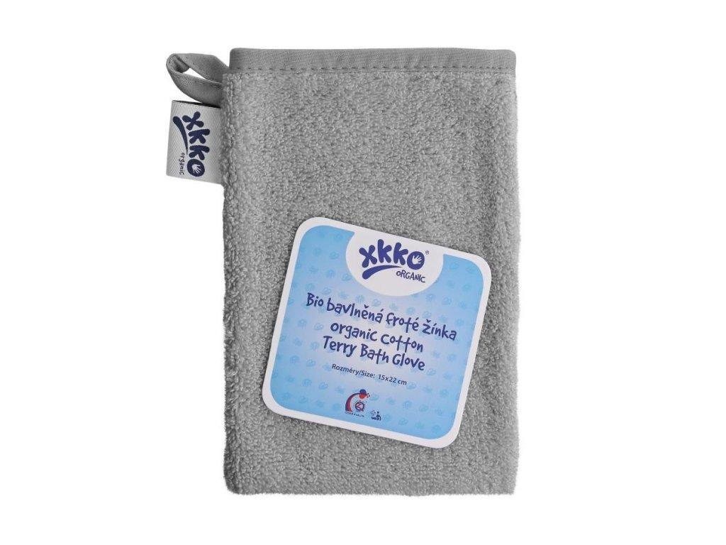 detska zinka xkko organic bio bavlna frote silver