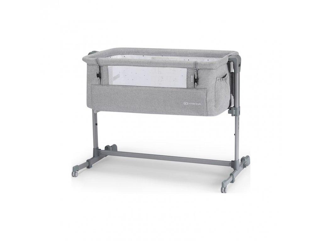detska postylka k posteli rodicu kinderkraft neste up grey light