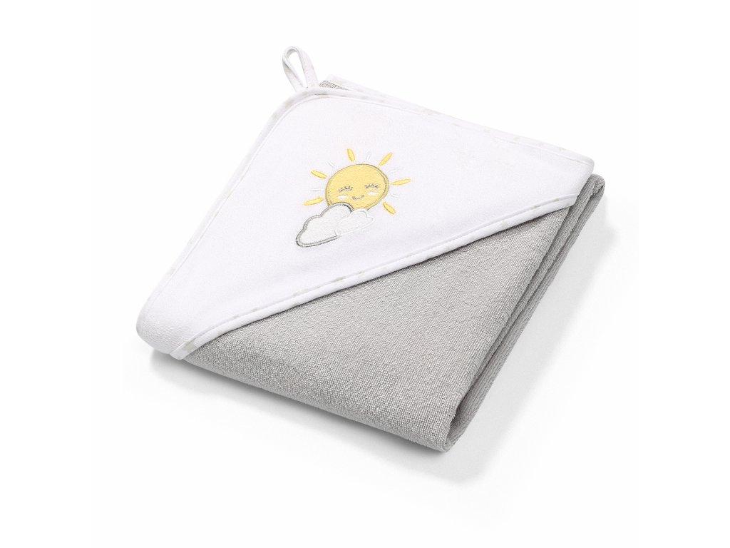 detska osuska babyono s kapuci frote 100 x 100 cm slunce