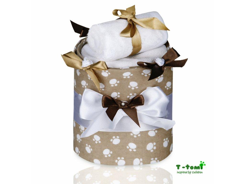 Plenkový dort T-Tomi Eco-Lux Tlapky béžové-malý