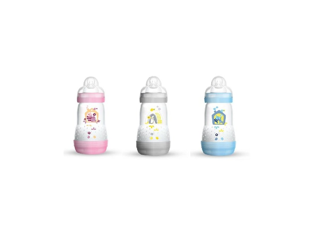 kojenecka lahev mam anti colic 260 ml 2+ mesice modra