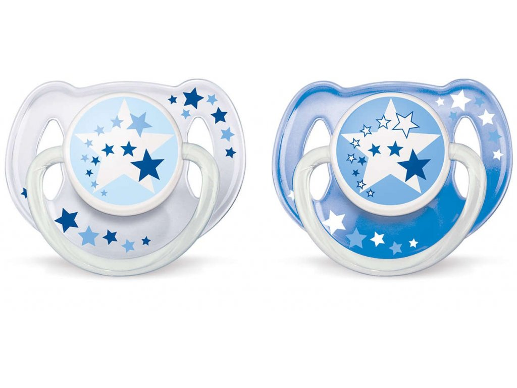 Dětské šidítko Philips Avent Noční 6-18 měsíců-2 kusy