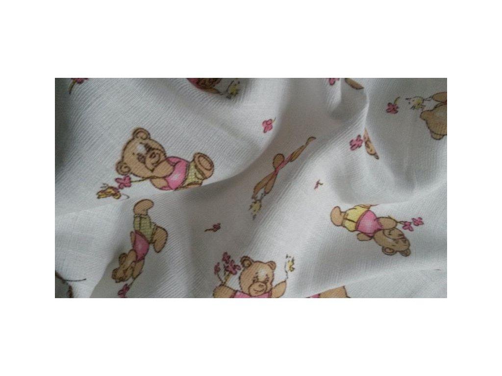 detska plena prem meda kyticka bavlnena 70 x 70 cm