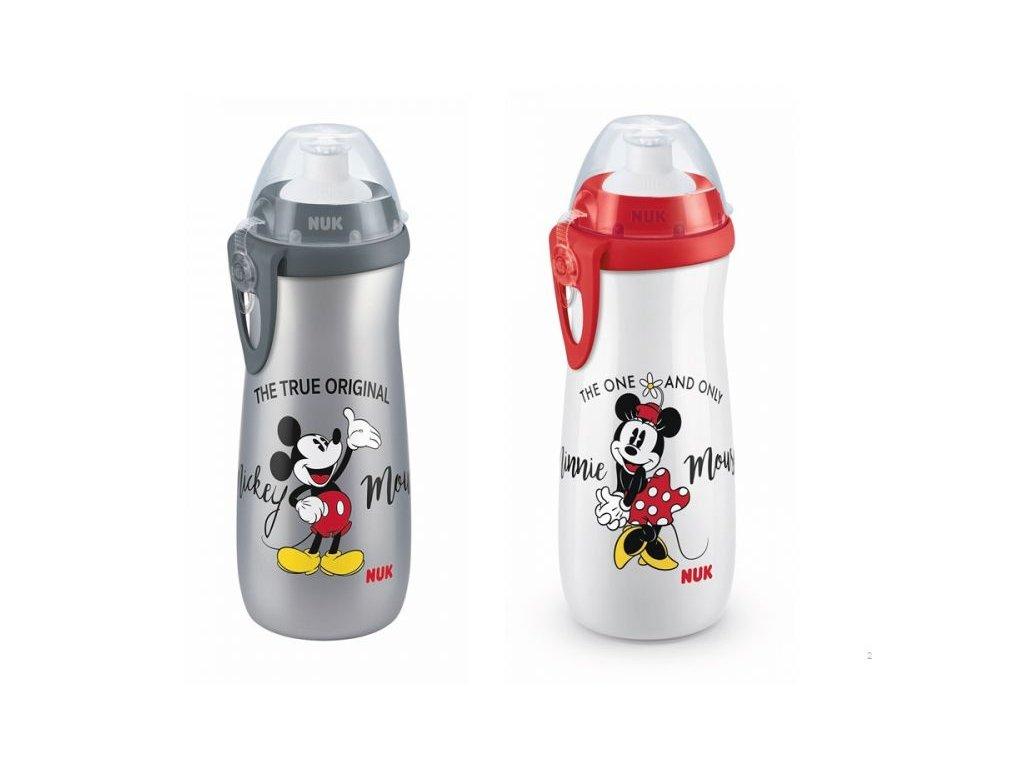 detska lahev nuk fc sports cup disney mickey 3 roky 450 ml cervena