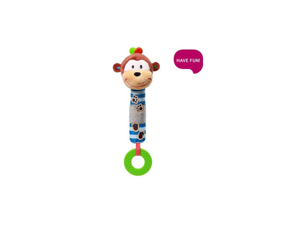 detska plysova hracka babyono opicka george piskaci s kousatkem