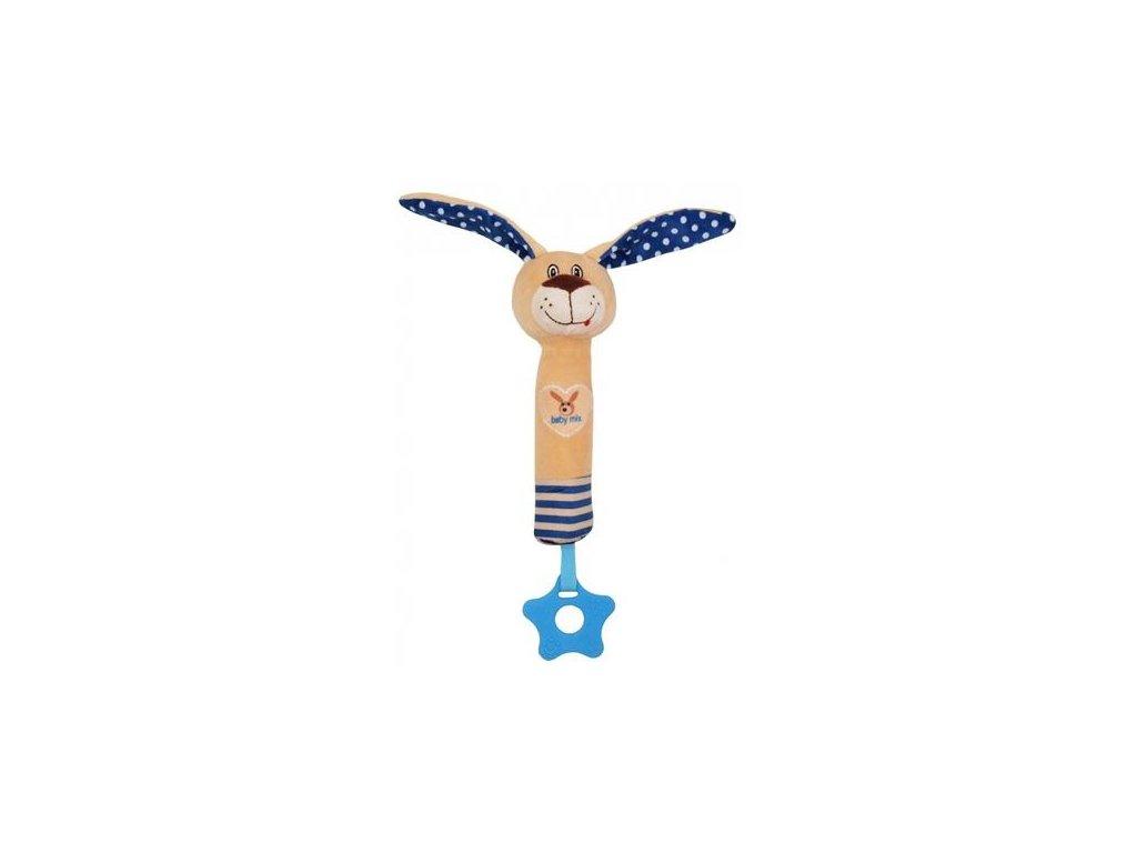 Dětská plyšová hračka Baby Mix Králík s pískátkem