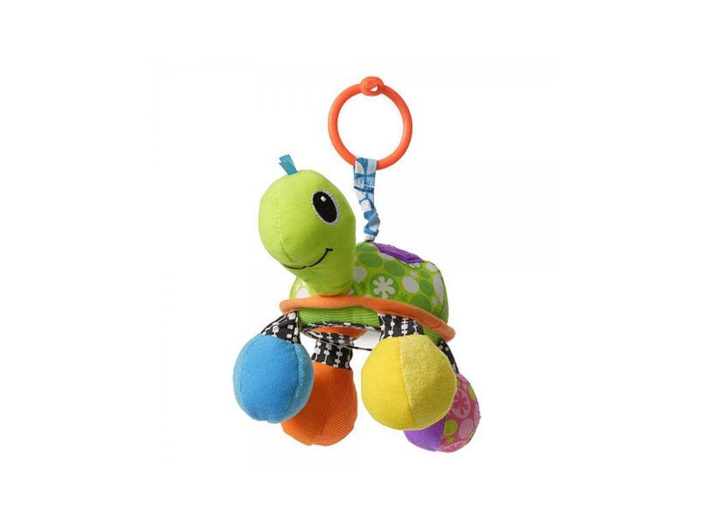 detska hracka na kocarek infantino zelva se zrcatkem zelena