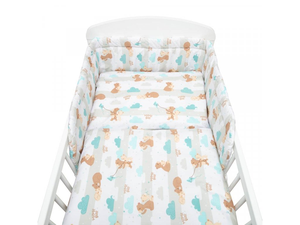 Dětské povlečení do postýlky New Baby Mama Bear 2-dílné 90 x 120 cm