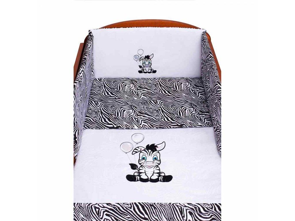 Dětské povlečení do postýlky New Baby Zebra 5-ti-dílné 100 x 135 cm