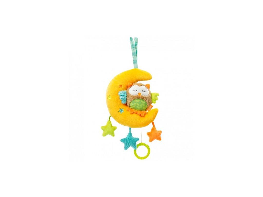 Dětská hračka na kočárek Fehn Forest hrací sova s měsíčkem