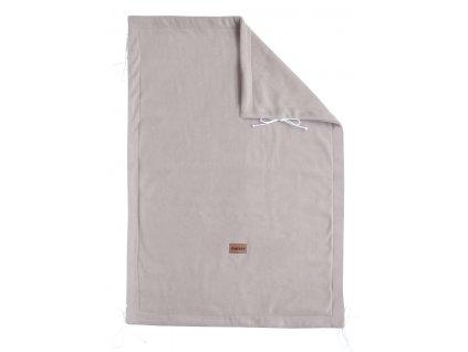detska deka emitex fleece 70 100 cm cernas svetle seda