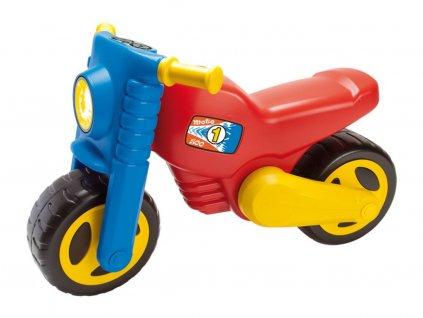 detske odrazedlo motorka scarlett 500 cervena