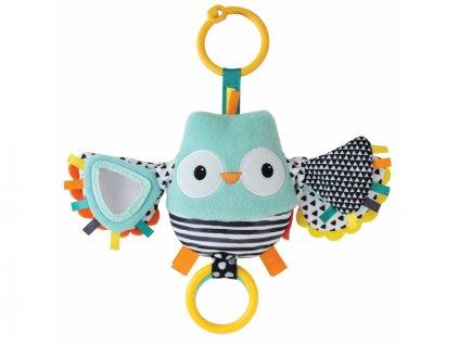 detska hracka na kocarek infantino vibrujici sovicka s mavajicimi kridly