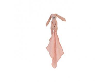 Happy Horse - Přítulka králíček Richie Linen růžový Velikost:25 cm