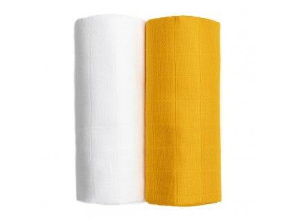 detska plenkova osuska t tomi exclusive collection 2 kusy white mustard