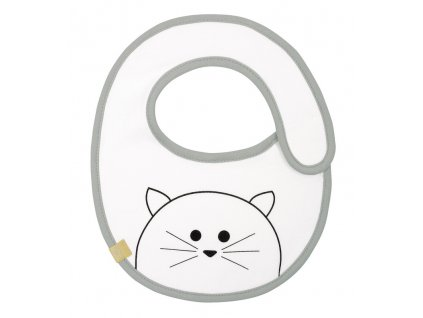detsky bryndacek lassig small bib waterproof little chums cat