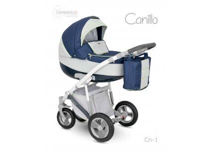 Dětský kočárek Camarelo Canillo tmavě modrý se světle šedou