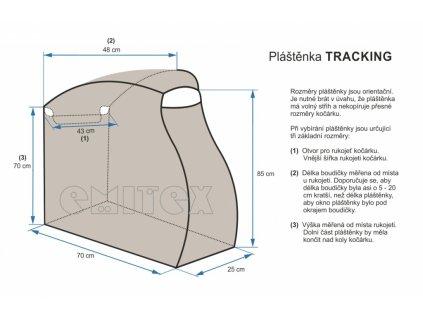 plastenka na kocarek emitex tracking