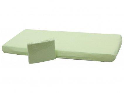 detske nepropustne prosteradlo do postylky scarlett 120 x 60 cm zelena