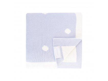 luxusni detska pletena deka shnuggle 90 x 70 cm modra