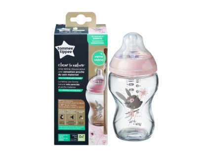 kojenecka lahev tommee tippee c2n sklenena silikon 0 250 ml pink 2