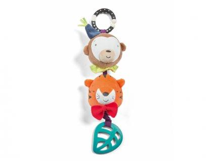 detska hracka na kocarek mamas papas vibrujici tygrik s opickou