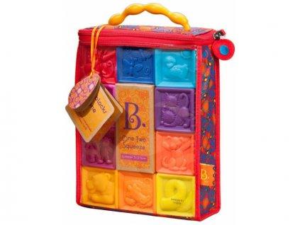 detska edukacni hracka b toys kostky one two squeeze