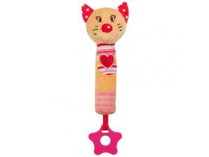 Dětská plyšová hračka Baby Mix Kočka s pískátkem