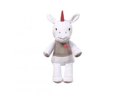 detska plysova hracka s chrastitkem babyono unicorn Lucy velky