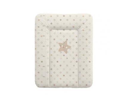 detska prebalovaci podlozka na komodu mekka ceba hvezda 50 x 70 cm bezova