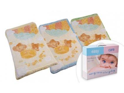detska deka easy care plysova barevna 80 x 110 cm bezova