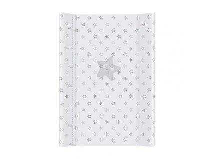 detska prebalovaci podlozka tvrda ceba hvezda 50 x 70 cm seda