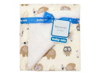 detska deka baby mix oboustranna 80 110 cm safari