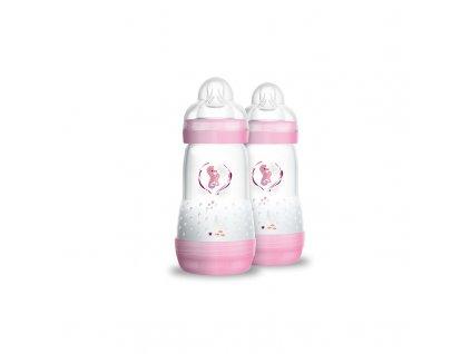 kojenecka lahev mam anti colic 260 ml 2 mesice combipack ruzova